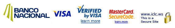 E-Commerce Logos - Banco Nacional / VISA / Verified by VISA / MasterCard SecureCode / ICLC.WS